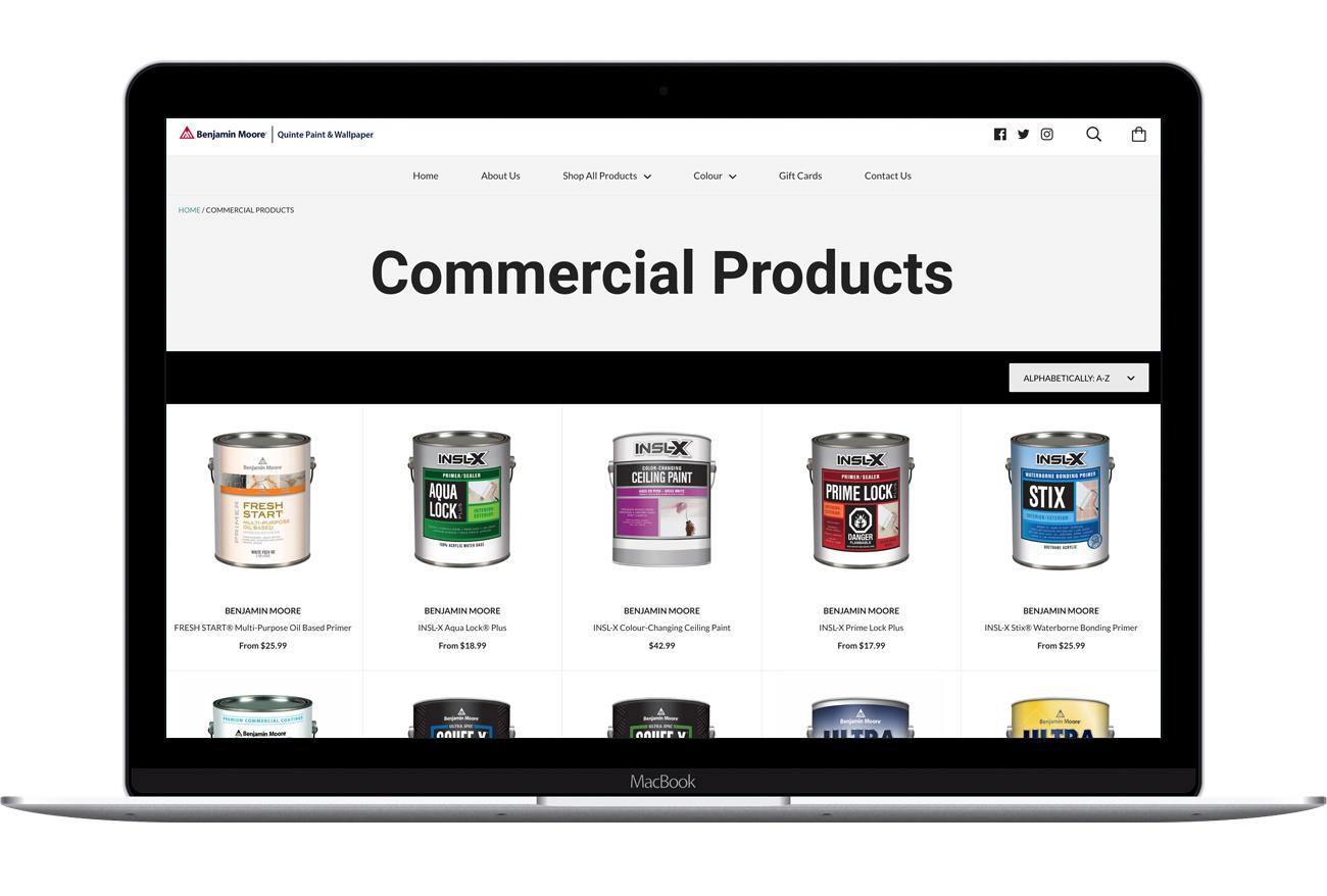Quinte Online Paint Store